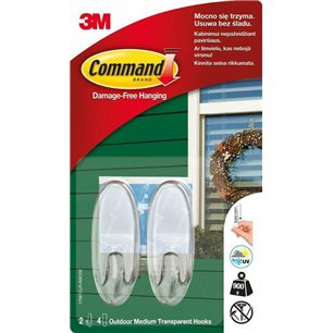 3M Command 2 Haki Na Drzwi Outdoor